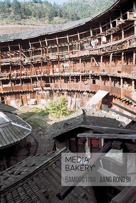 Internal Structure of Yuchang Earth Tower, Nanjing County, Zhangzhou City, Fujian Province, PRC