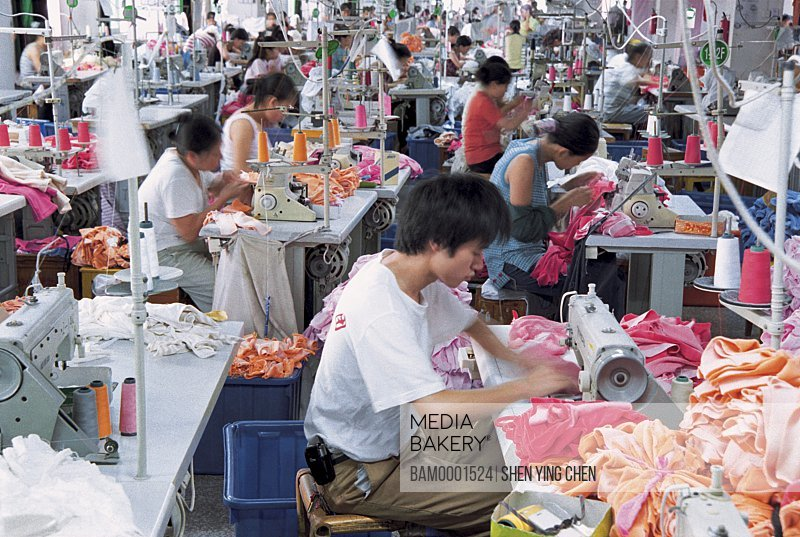 Production workshop of Fuma Kniting limited company, Fuxing investment district, Fuzhou City, Fujian Province of People's Republic of China