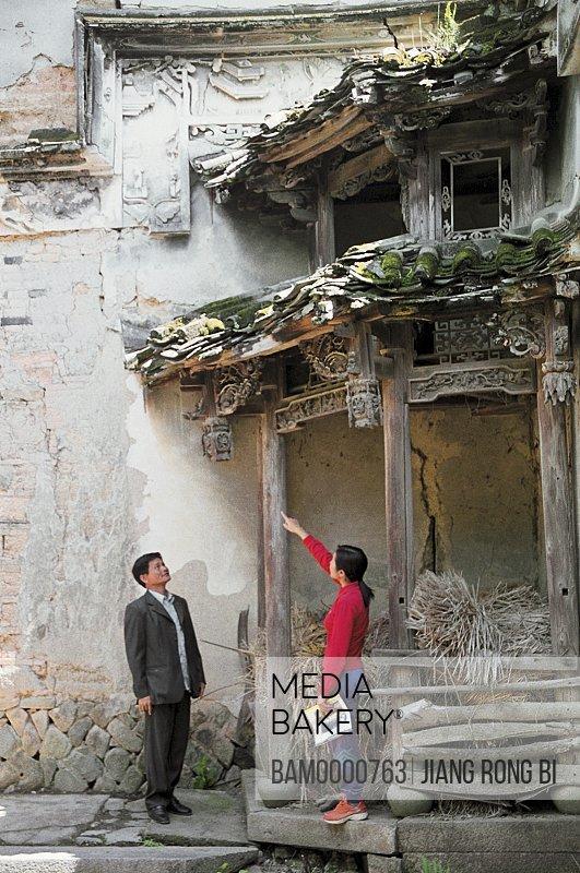 People at Ancient Summerhouse, Minhou County, Fuzhou City, Fujian Province, People's Republic of China