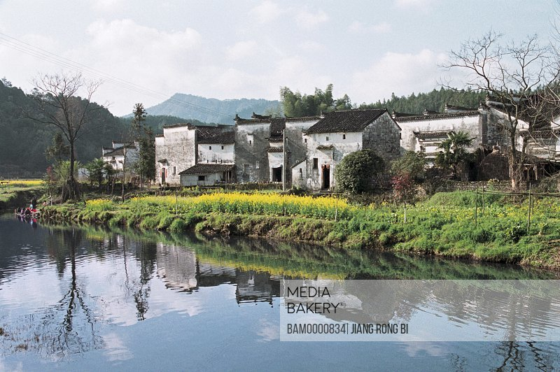 Village on a riverbank, Yan Village built in Song dynasty, Yancun Village, Wuyuan County, Jiangxi Province of People's Republic of China