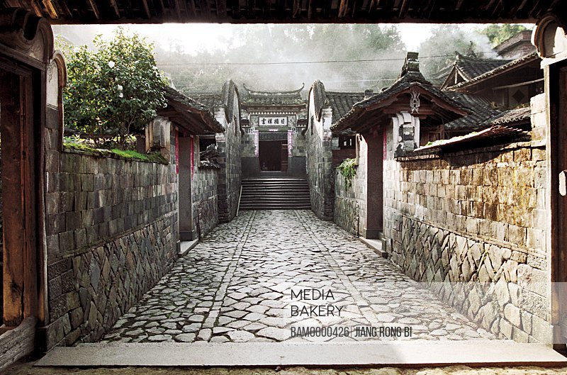 Passage leading to house, Stone-laid Alleyway amid Ancient Houses, Taishun County, Zhejiang Province, People's Republic of China