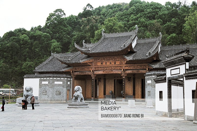 The biggest Ancestral hall ---Xiaojiang Ancestral hall in Jiangwan Village, Jiangwan Village, Wuyuan County, Jiangxi Province of People's Republic of China