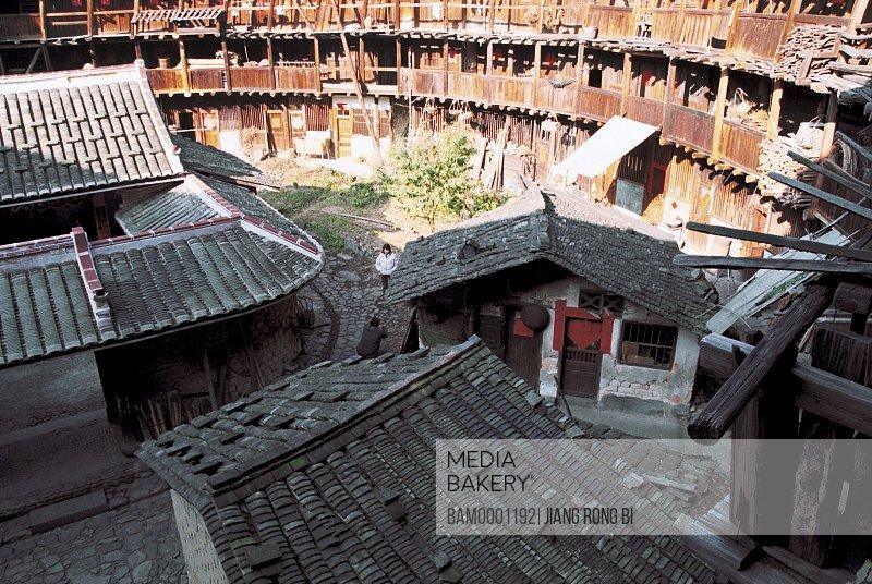 Stake for Circular Corridor in Yuchang Earth Tower, Nanjing County, Zhangzhou City, Fujian Province, PRC