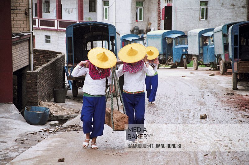 Huian Ladies Carrying Stone in Xiaozuo Village, Chongwu Town, Huian County, Fujian Province, People's Republic of China