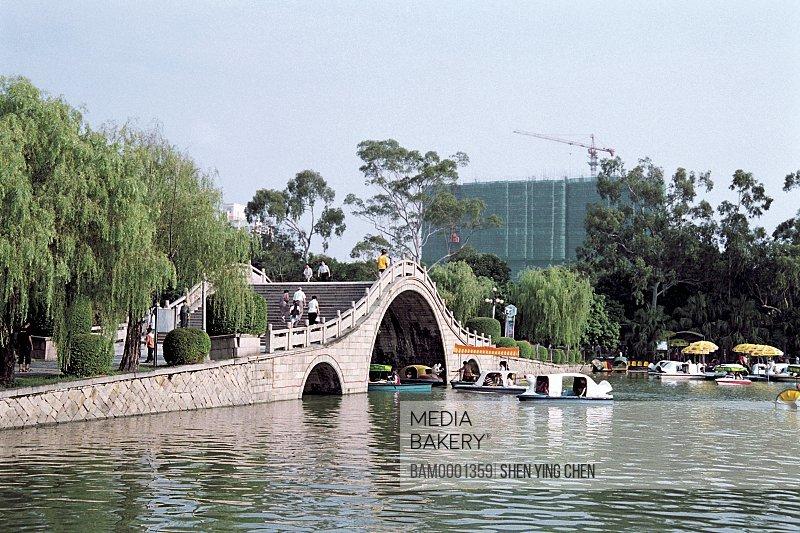 Arched bridge of West Lake Park, West Lake Park, Fuzhou City, Fujian Province of People's Republic of China