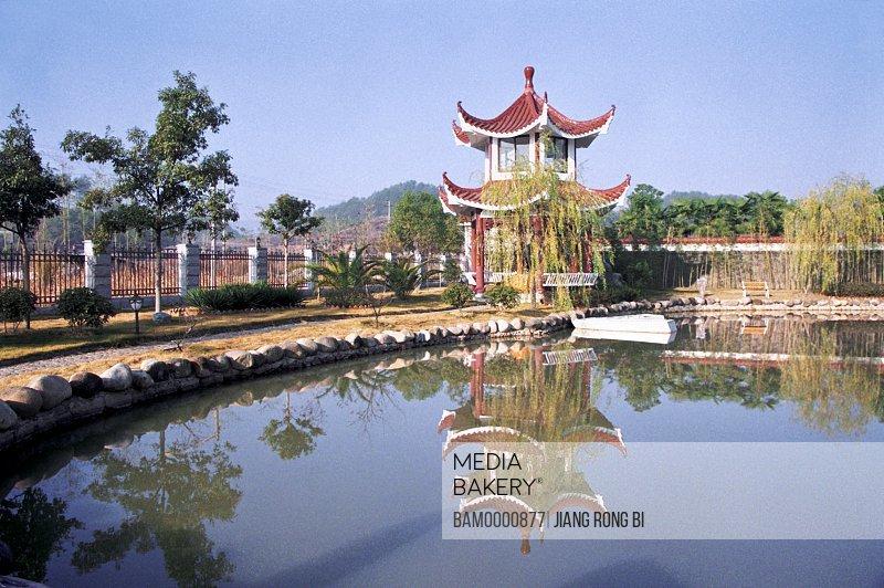 Summerhouse in Backyard of Wuyishan Custom , Wuyishan City, Fujian Province, People's Republic of China