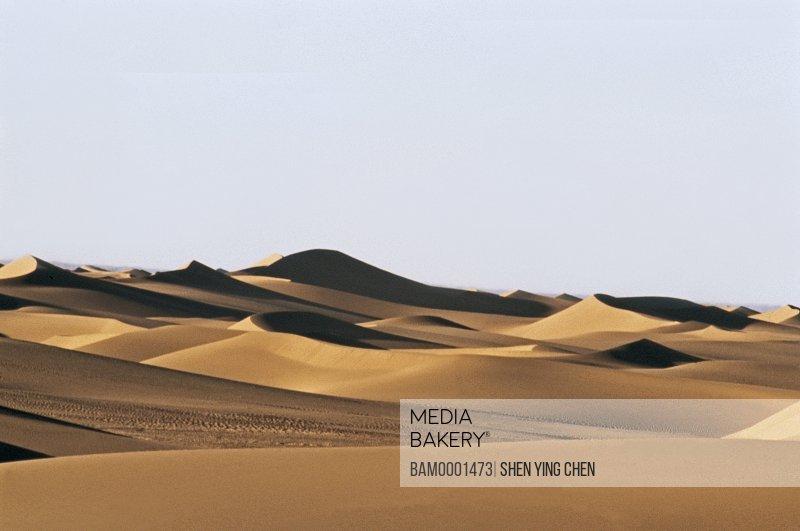 Sand dunes in Erjina desert , Ejinaqi, Inner Mongolia Autonomous Region of People's Republic of China