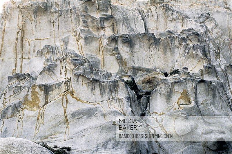 Uneven rock formation, Zhangpu marine decorated corridor rock, Zhangpu County, Fujian Province of People's Republic of China