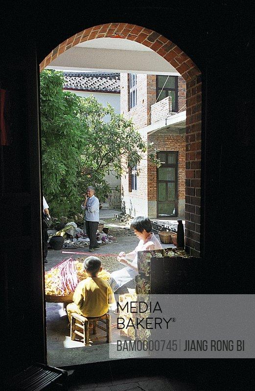 Yanshou Villagers Making Incense, Chengxian District, Putian City, Fujian Province, People's Republic of China