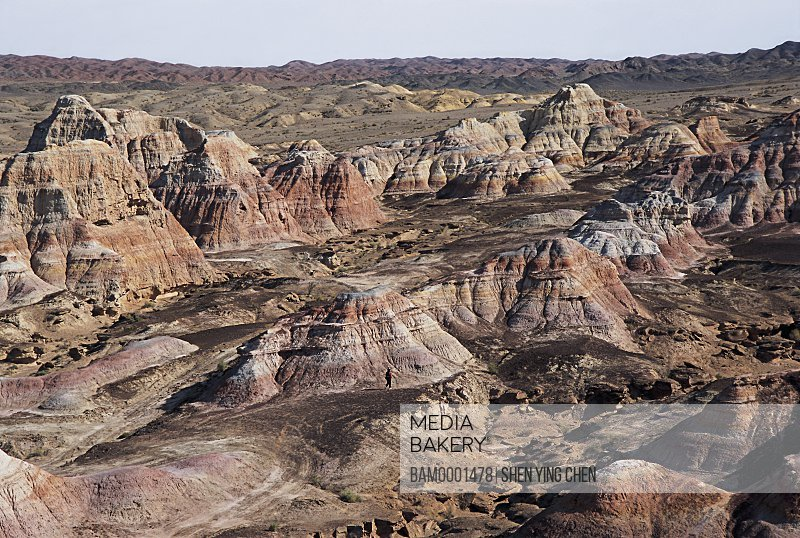 Yadon landform of Wucai Bay, Jimusaer County , Xinjiang Uygur Autonomous Region of People's Republic of China