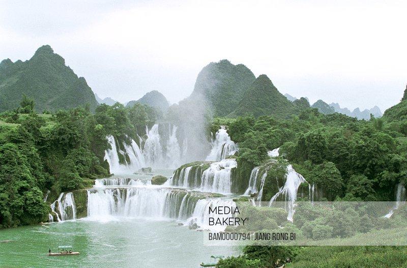 The scenery of Detian waterfall, Daxin County, Nanning City, Guangxi Zhuang Nationality Autonomous Region of People's Republic of China