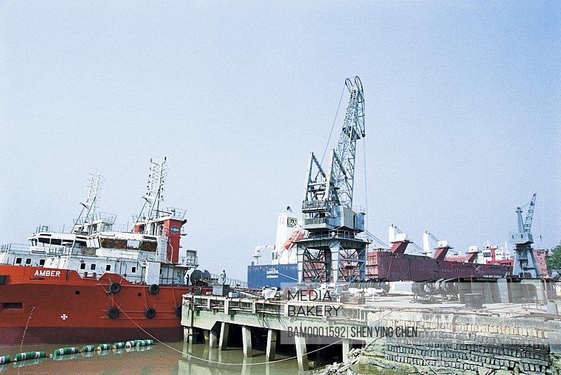 Shipbuilding of Mawei shipbuilding limited company, Mawei District, Fuzhou City, Fujian Province of People's Republic of China