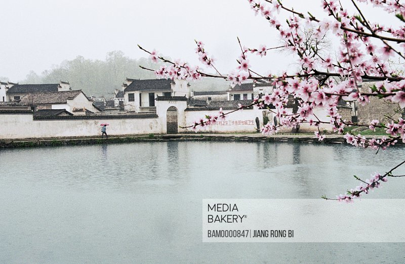 Nanhu Lake in Hongcun village, Yixian County, Anhui Province, People's Republic of China