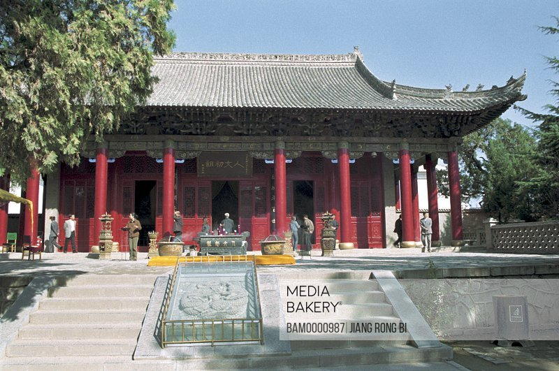 Facade of shrine, Main Hall of Entrance to Huang Di Mausoleum, Huangling County, Yan'an City, Shanxi Province, People's Republic of China