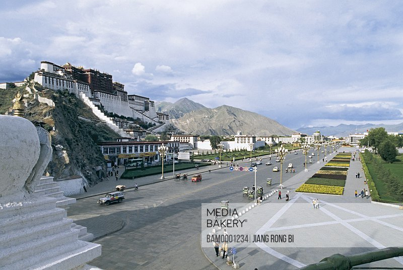 Plaza of the Potala Palace, Lhasa City, Tibet Autonomous Region, PRC