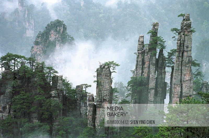 Emperor mountain scenery of Zhangjiajie, Zhangjiajie City, Hunan Province of People's Republic of China