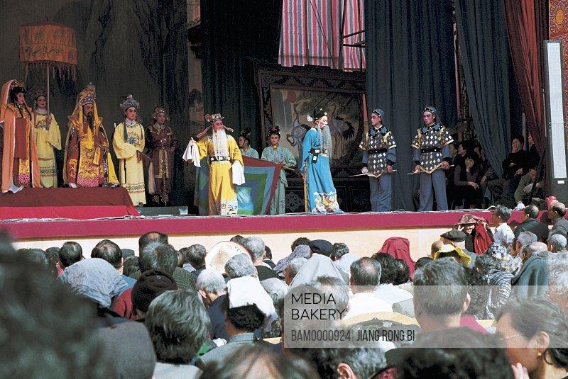 Min opera performance on the Zhongzhou island on the lantern festival, Fuzhou City, Fujian Province, People's Republic of China