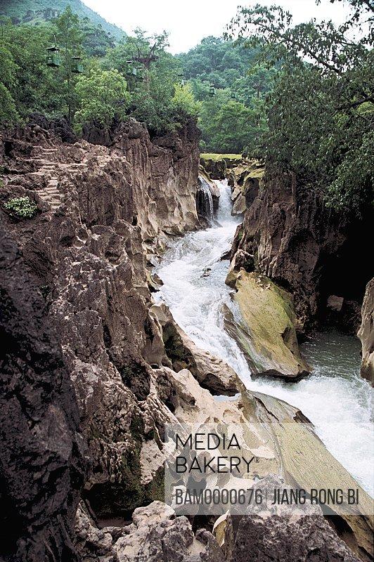 The Big Valleg scenery of Maling River, Xingyi City, Guizhou Province of People's Republic of China