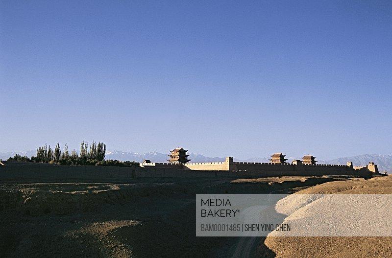 Scenery of the Jiayuguan Great Wall, Jiayuguan Greatwall, Gansu Province of People's Republic of China