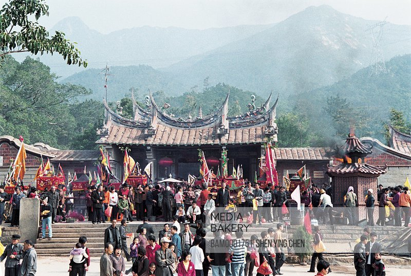 People gathered at fair, The people attends the Beichen mountaintemple fair, Beichen Mountain, Tongan County, Fujian Province of People's Republic of China