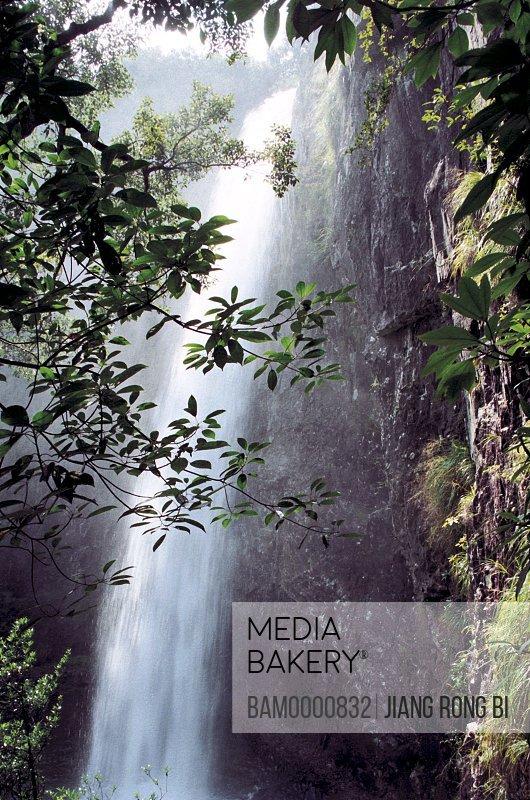 Mountain of Flag waterfall, Fuzhou City, Fujian Province, People's Republic of China