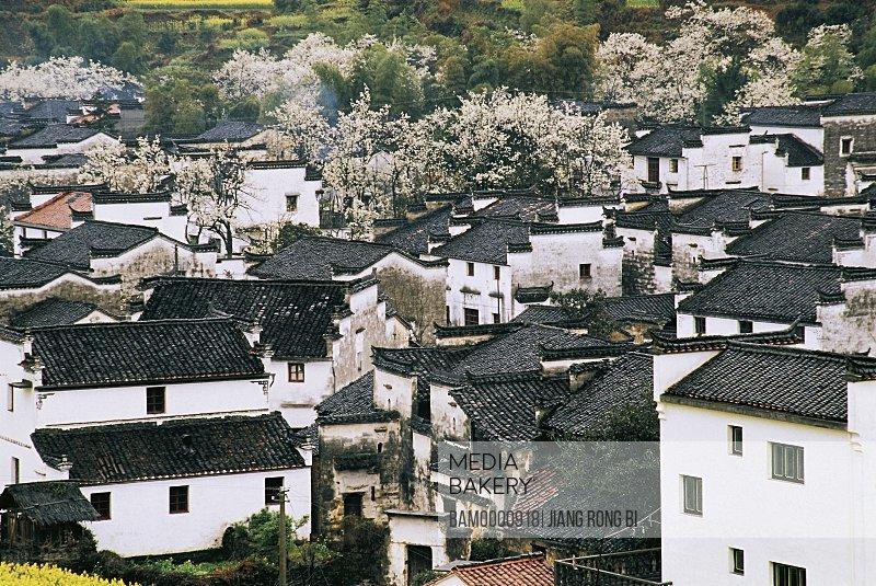Qinyuan village in spring, Wuyuan County, Jiangxi Province, People's Republic of China