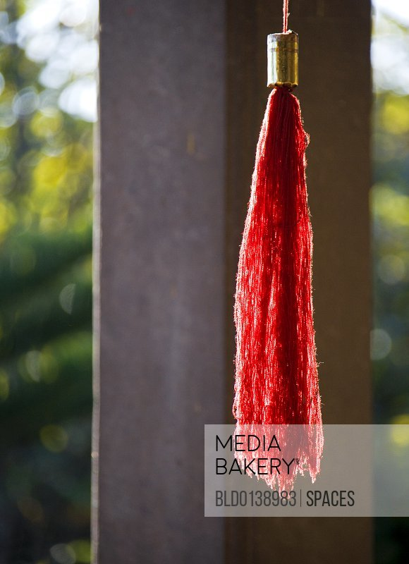 Red Tassel at Buddhist Temple