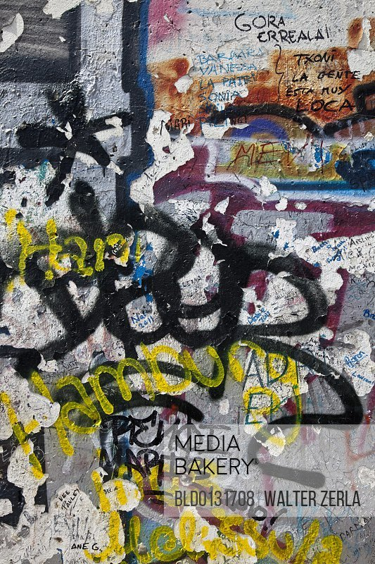 Close up of urban graffiti on wall