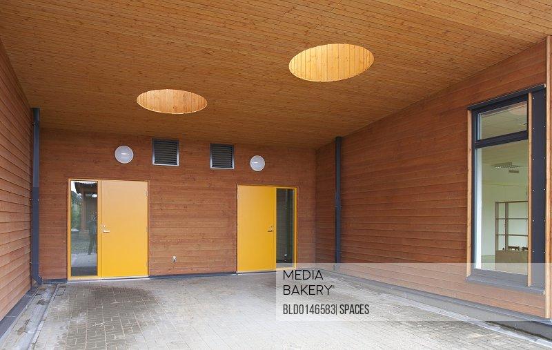 Contemporary School Entrance