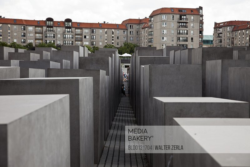 Rectangles in concrete city park Berlin Germany