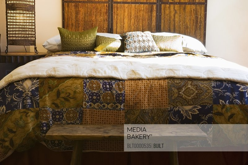 Patterned Quilt on Cozy Bed