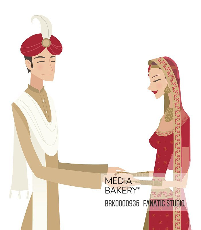 704bc54341 Mediabakery - Photo by Fanatic Studio - Indian bride and groom in ...