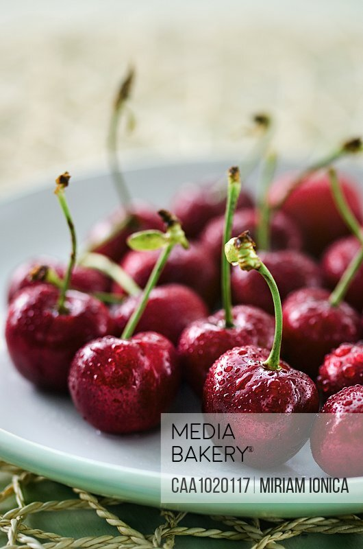 Fresh juicy summer cherries