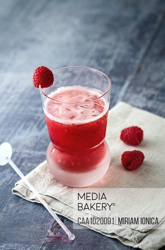 Spiced rum raspberry cocktail