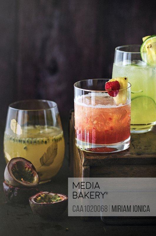 Summer cocktail trio