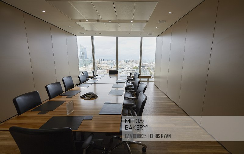 Long wood conference room table