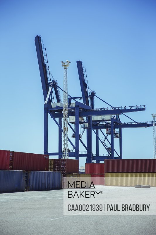 Cranes over cargo containers
