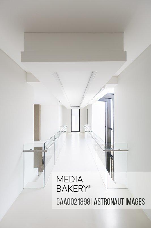 White modern house corridor