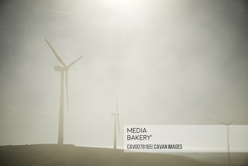 Wind turbines for sustainable energy production in Spain.
