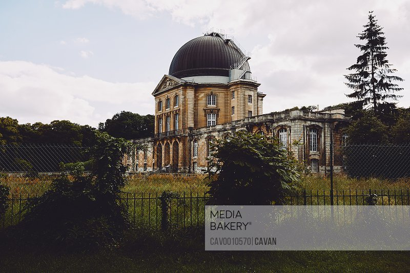 Old observatory building in park of Paris <br><br><span style='color: red'>Editorial Use Only.</span><br><br>