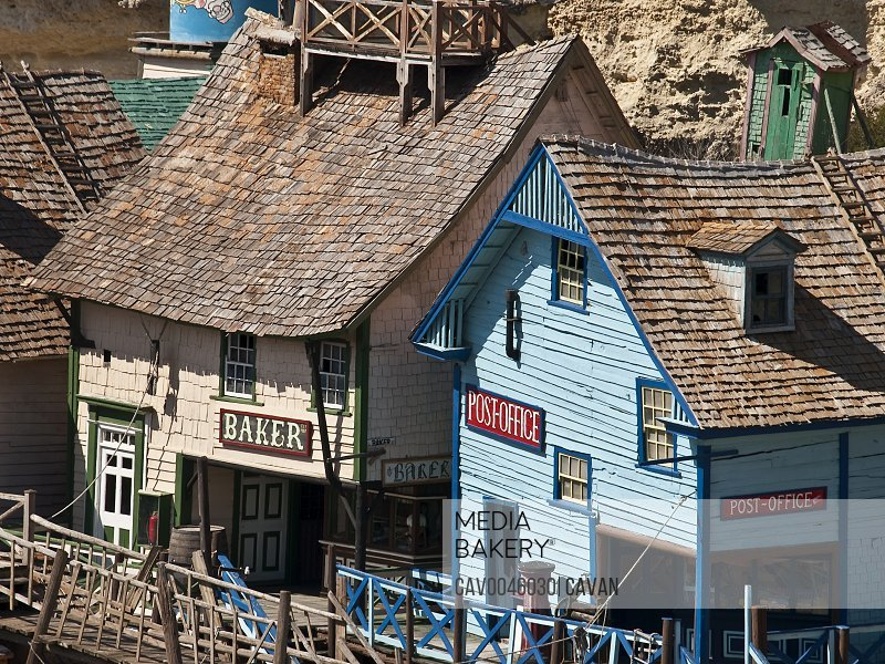 Sweethaven village at Popeye filmset in Malta<br><br><span style='color: red'>Editorial Use Only.</span><br><br>