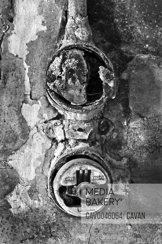 Old WW2 era electrical wall switch