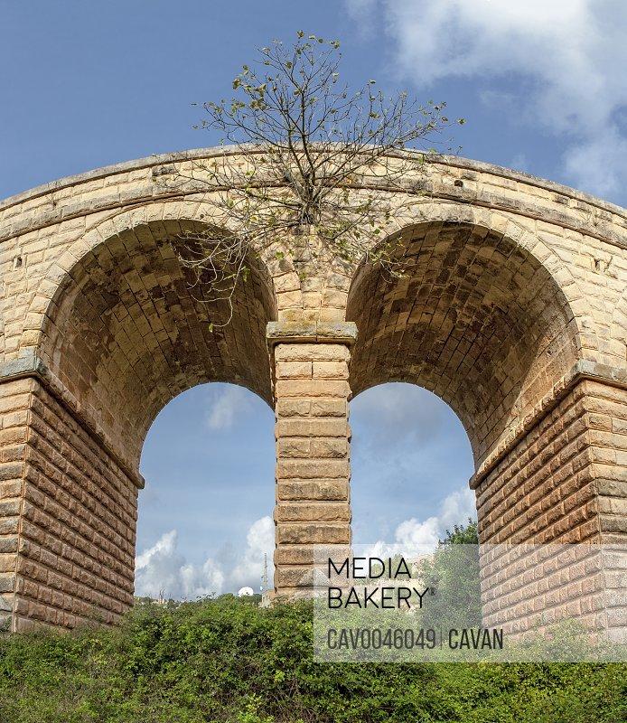 Madliena Bridge in Malta as seen from valley below