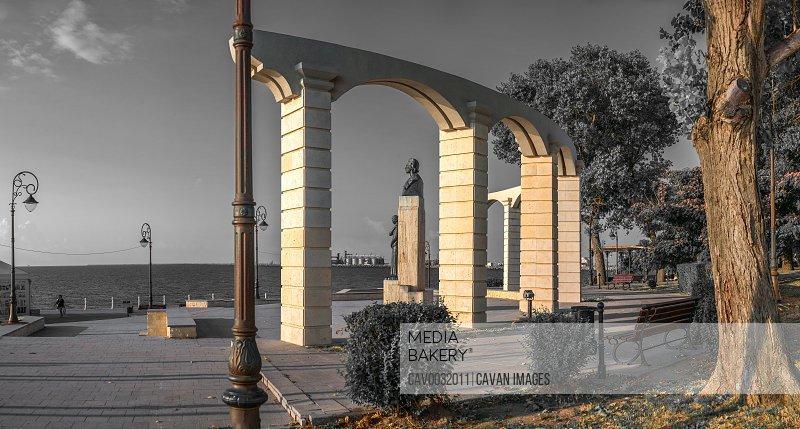 Statue of Mihai Eminescu in Constanta, Romania