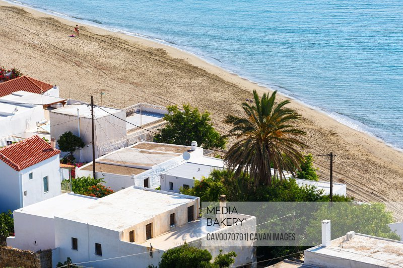 Beach in Molos village on Skyros island in Greece.<br><br><span style='color: red'>Editorial Use Only.</span><br><br>