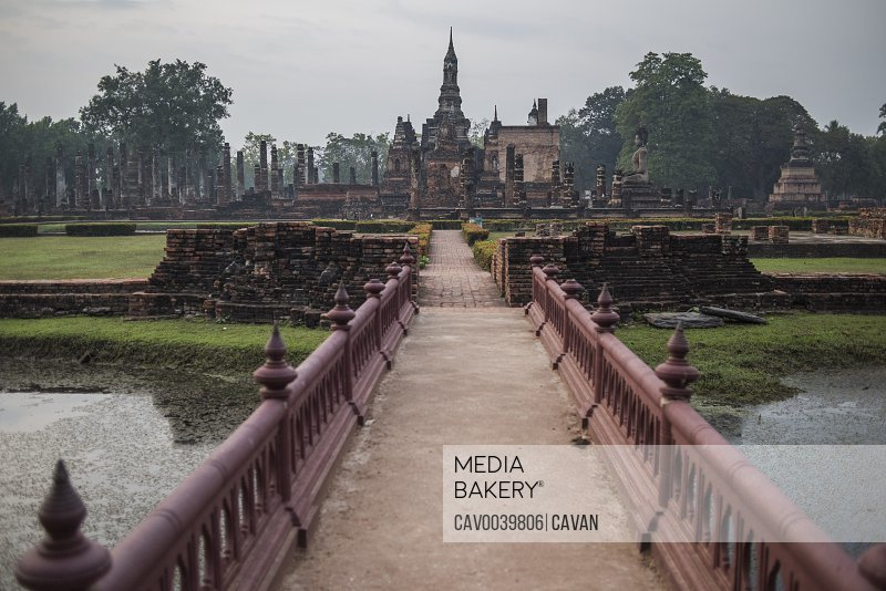 Wat Mahatat temple , Sukhothai Historical Park, Sukhothai, Thailand.<br><br><span style='color: red'>Editorial Use Only.</span><br><br>