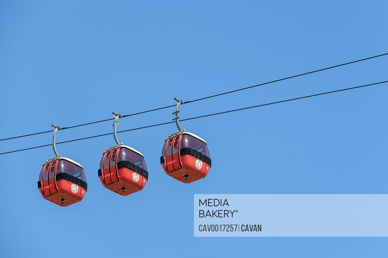 Jericho Cable Car on the Mount of Temptation, West Bank, Palestine <br><br><span style='color: red'>Editorial Use Only.</span><br><br>