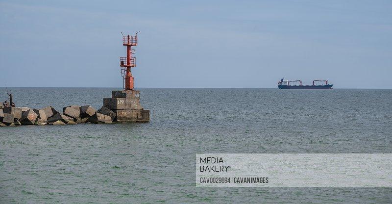 Sea Gate Lighthouse at Adzhalyk Estuary