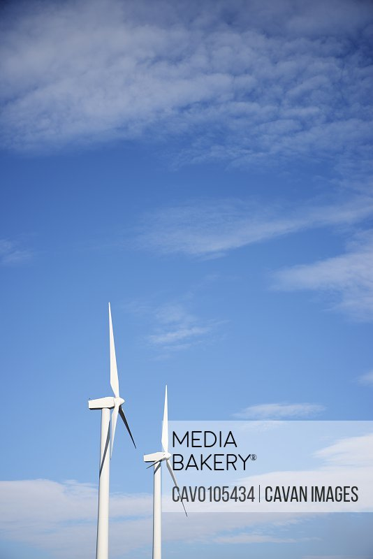 Wind turbines for sustainable electric energy production in Spain.