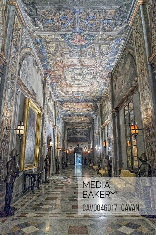 Interior of Grandmaster's Palace in Valletta Malta
